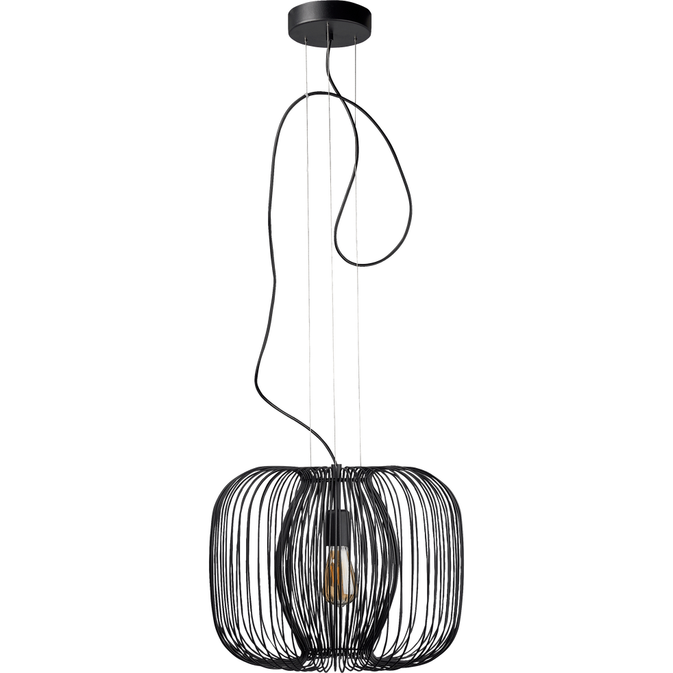 suspension filaire en m tal noir d45cm napoule. Black Bedroom Furniture Sets. Home Design Ideas