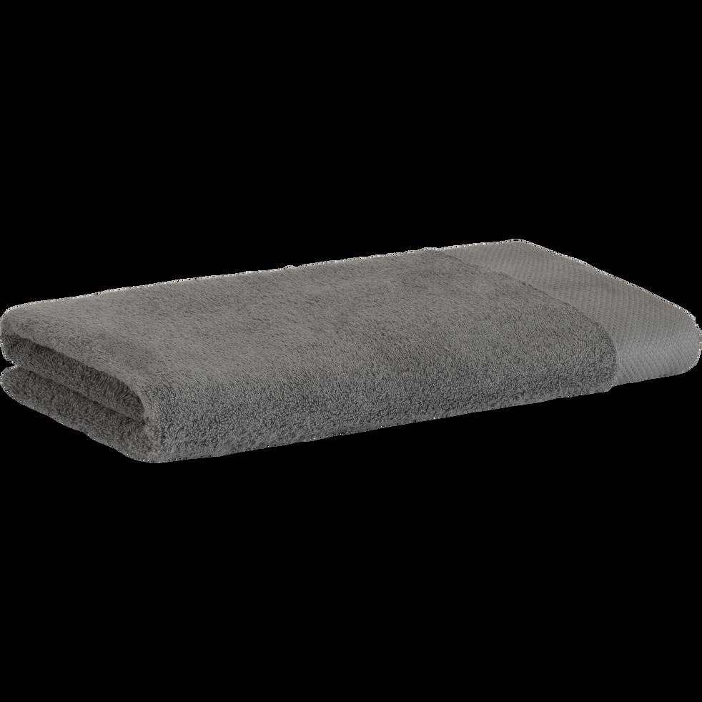 Drap de douche en coton 70x140cm gris restanque-AZUR