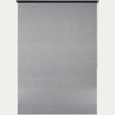 Store enrouleur voile gris anthracite 120x250cm-VOILE