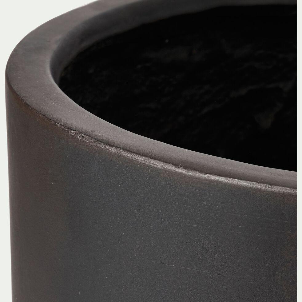 Pot en ciment noir h31xd30 cm-DAKHLA