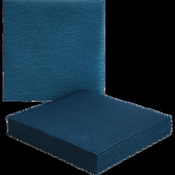 Lot de 20 serviettes en papier bleu figuerolles 40x40cm-SALERNE