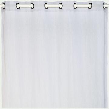 Voilage à œillets en polyester - gris borie 135x360cm-DUNE