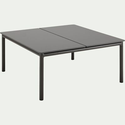 Table basse de jardin carrée en aluminium - gris-ALEX