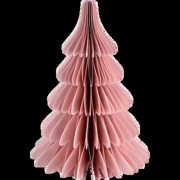 Sapin en papier rose à poser H24cm-TAYUMAN