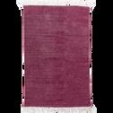 Tapis en coton rouge sumac 100x150cm-PALMA