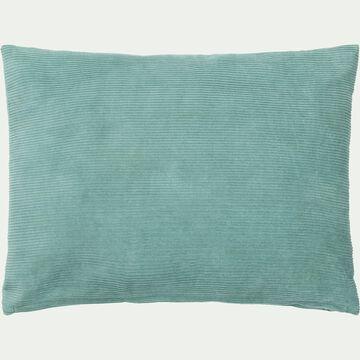 Coussin rectangle en velours côtelé 30x40cm - bleu rameau-Colombine