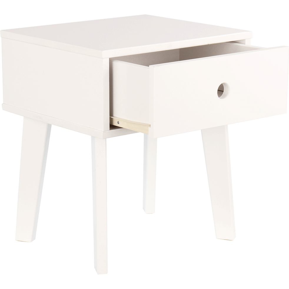 Chevet 1 tiroir blanc-SACHA
