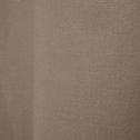 Rideau à oeillets en coton brun châtaignier 140x250cm-CALANQUES