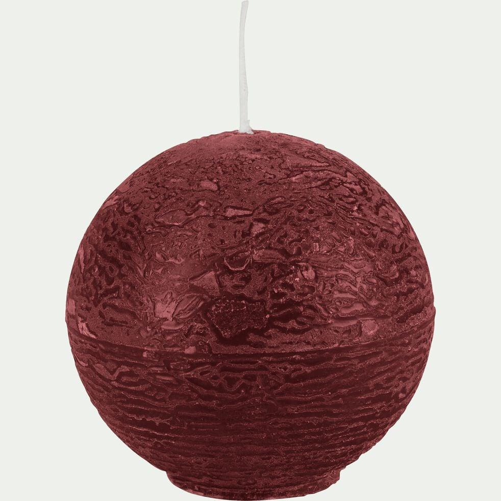 Bougie ronde - rouge sumac D6cm-BEJAIA