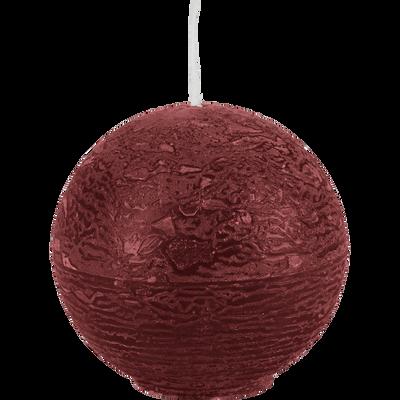 Bougie ronde rouge sumac D6cm-BEJAIA