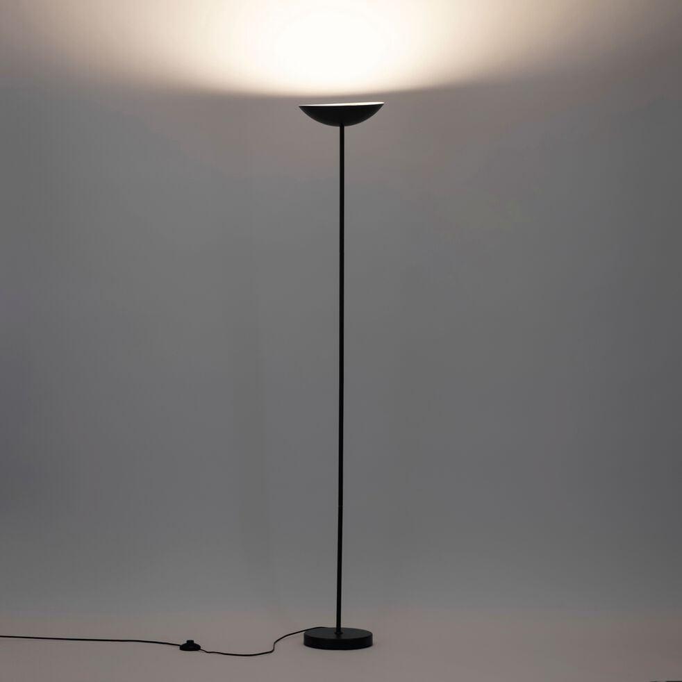 Lampadaire en métal noir H117cm-JERSEY