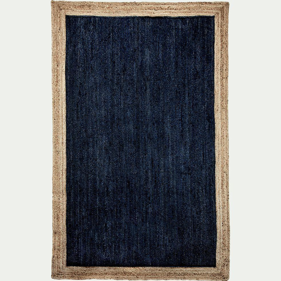 Tapis en jute - bleu myrte 160x230cm-NAÏA