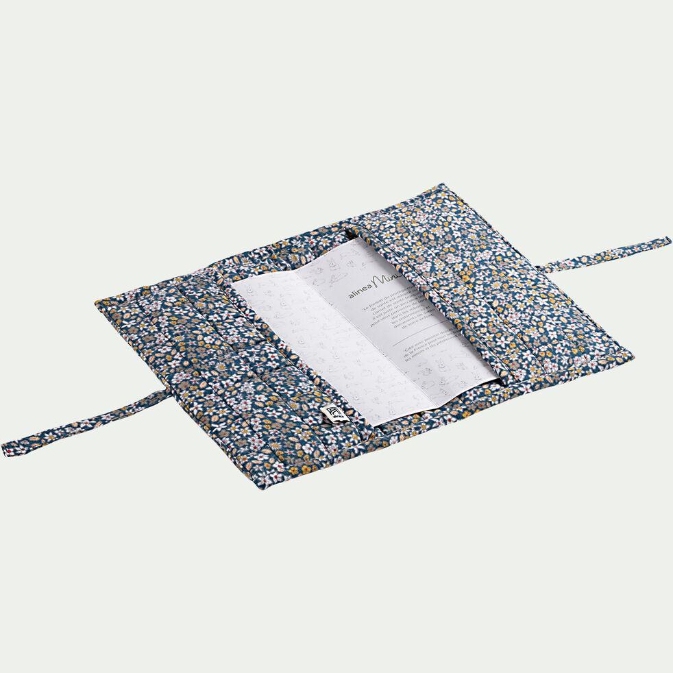 Protège carnet sigean - bleu-Sigean