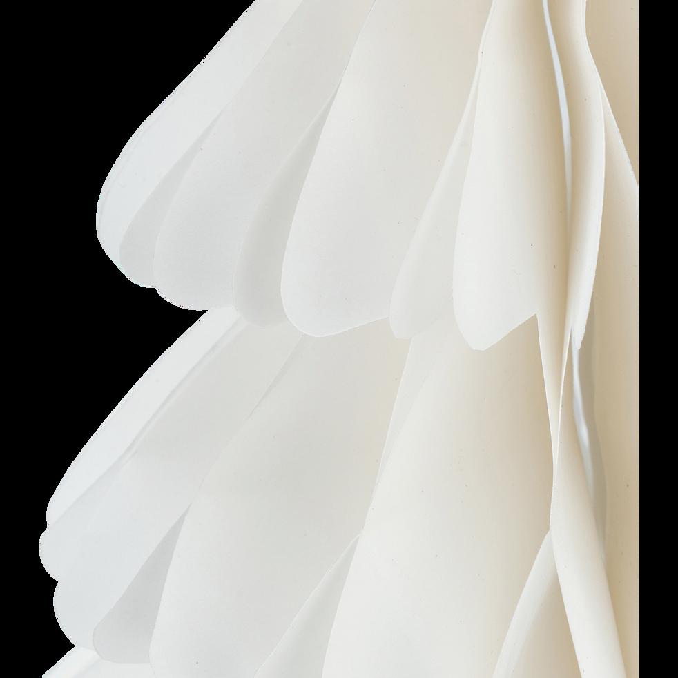 Sapin à poser en papier blanc H24cm-TROPHIME