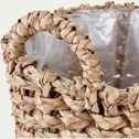 Cache-pot en feuilles de bananier - naturel H29xD42 cm-MOGHRA