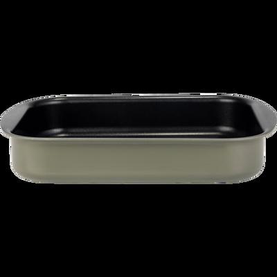 Plat à four rectangulaire en aluminium vert cèdre 20x25cm-PINTO