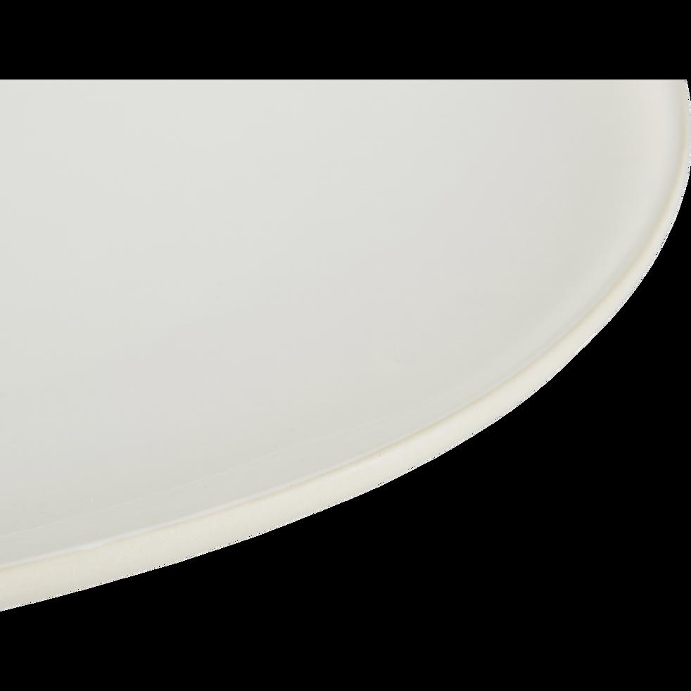 Assiette plate en grès blanc ventoux D27cm-KYMA