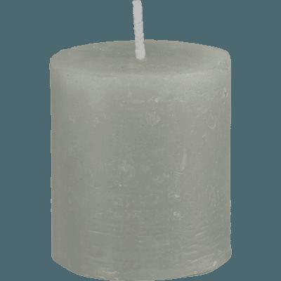 Bougie votive vert olivier D4xH5cm-BEJAIA