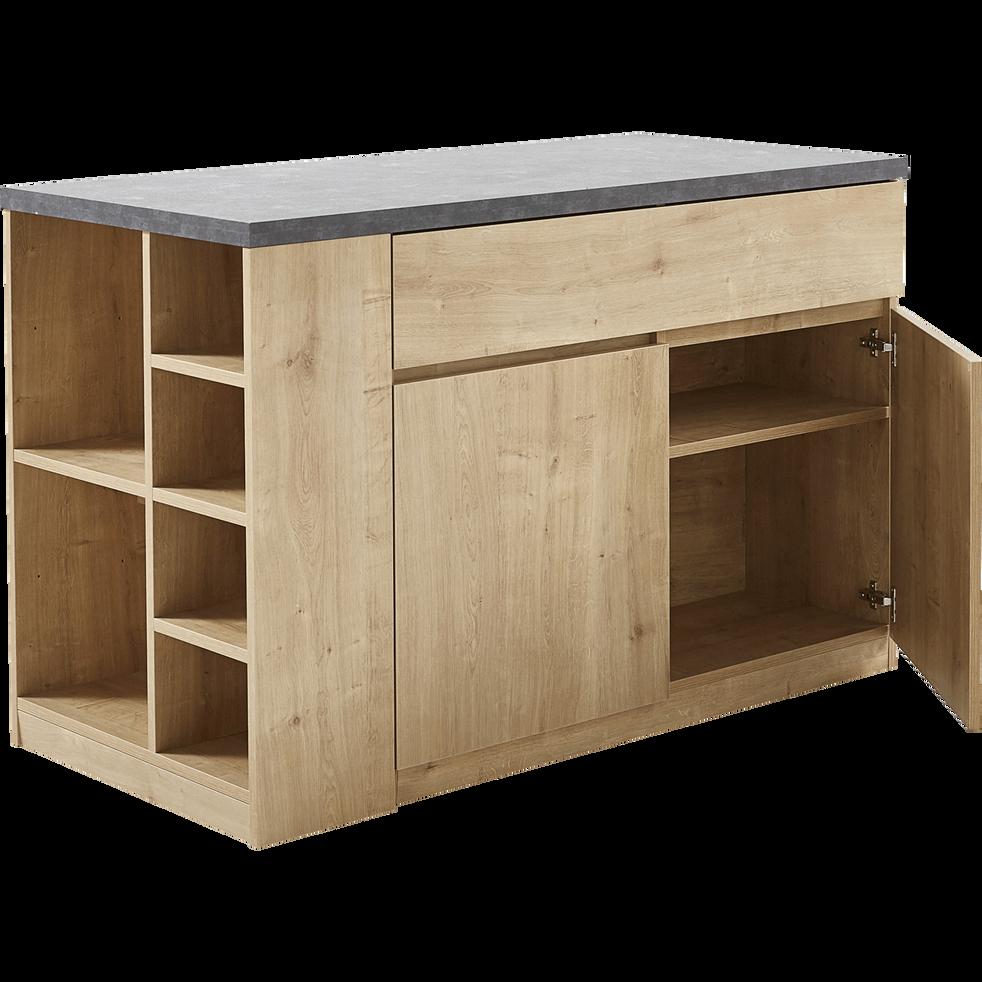 bar lot central rangement r versible l140cm gabin 140x69 cm meubles bar et lots. Black Bedroom Furniture Sets. Home Design Ideas