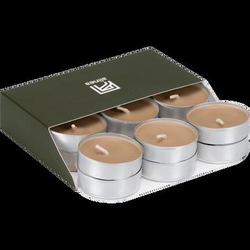 18 bougies chauffe-plats rose argile-HALBA