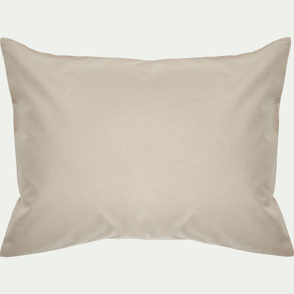 Taie d'oreiller bébé en coton 35x45cm - beige alpilles-Calanques