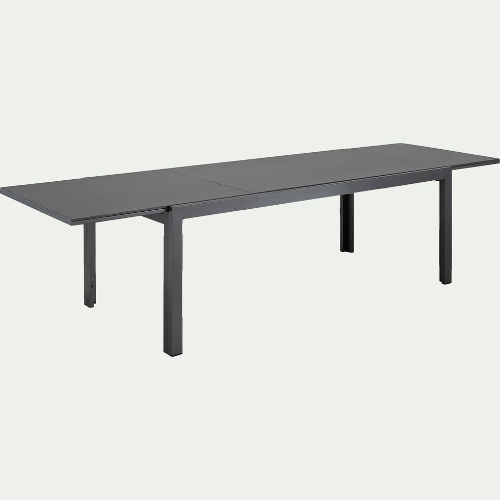 Table de jardin extensible en duraboard - gris 8 à 12 places-ADANA