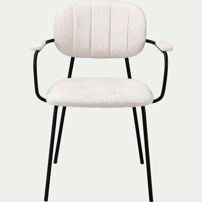 Chaise en tissu et piétement en métal - H77xL60xl50 cm beige roucas-FIORI