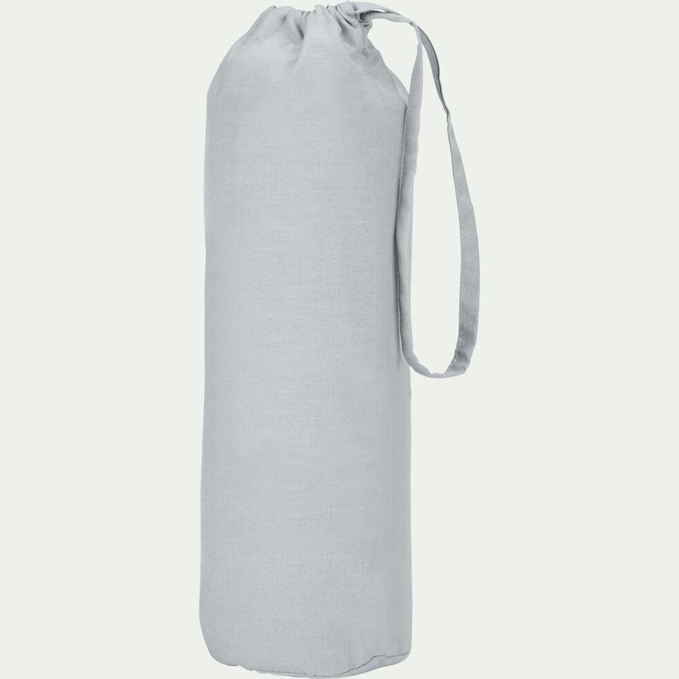 Drap housse en coton - gris borie 140x200cm B25cm-CALANQUES
