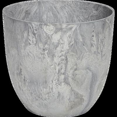Pot à réserve d'eau gris D33H29cm-BOLA