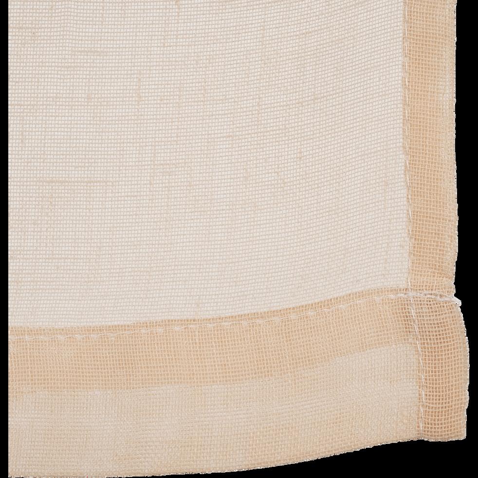 Vitrage beige roucas 60x120cm-DUNE