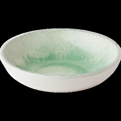 Assiette creuse en faïence verte D21cm-PAOLA