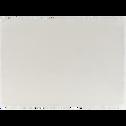 Set de table à franges en coton blanc 30x45cm-DINA