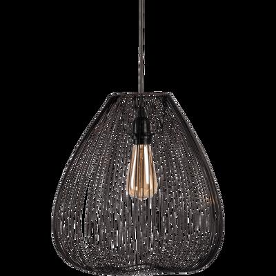 Suspension en métal filaire noir H35xD35cm-CLAUDINE