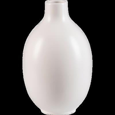 Vase en céramique blanc D17xH30cm-HYDRIE