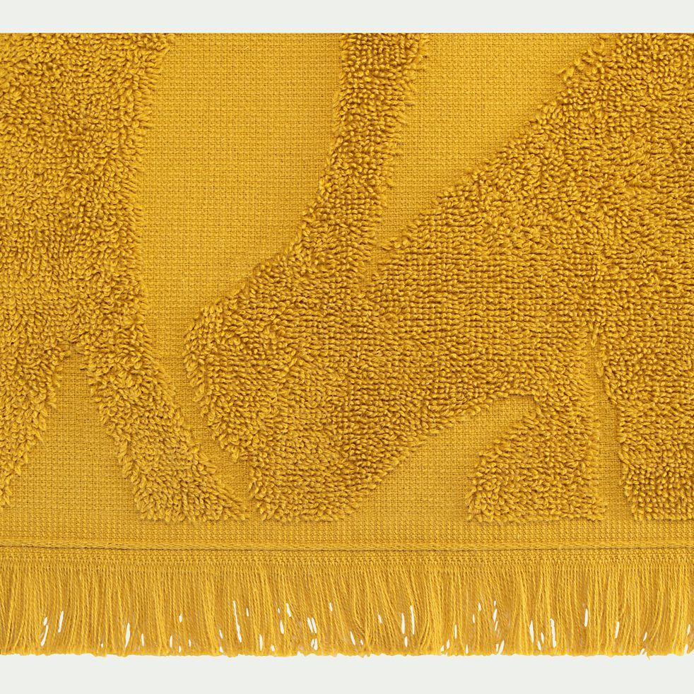 Drap de douche en coton - jaune argan 70x140cm-Ryad