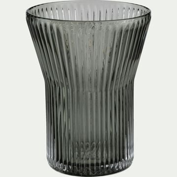 Gobelet en verre côtelé - gris 27cl-FUMEL