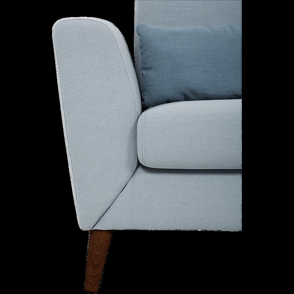 Canapé d'angle fixe réversible en tissu bleu pastel-LIP