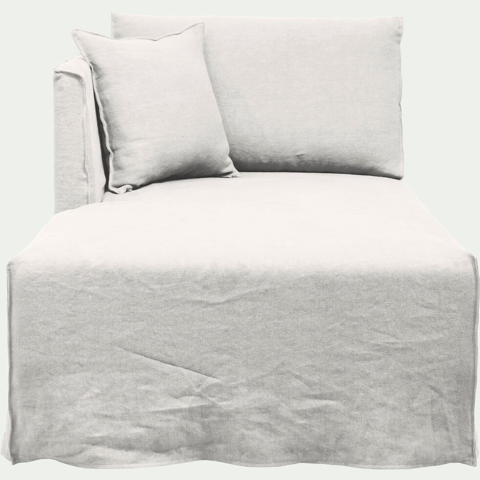 Méridienne gauche en lin blanc capelan-VENCE