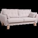 Canapé 3 places fixe en tissu nougat-ICONE