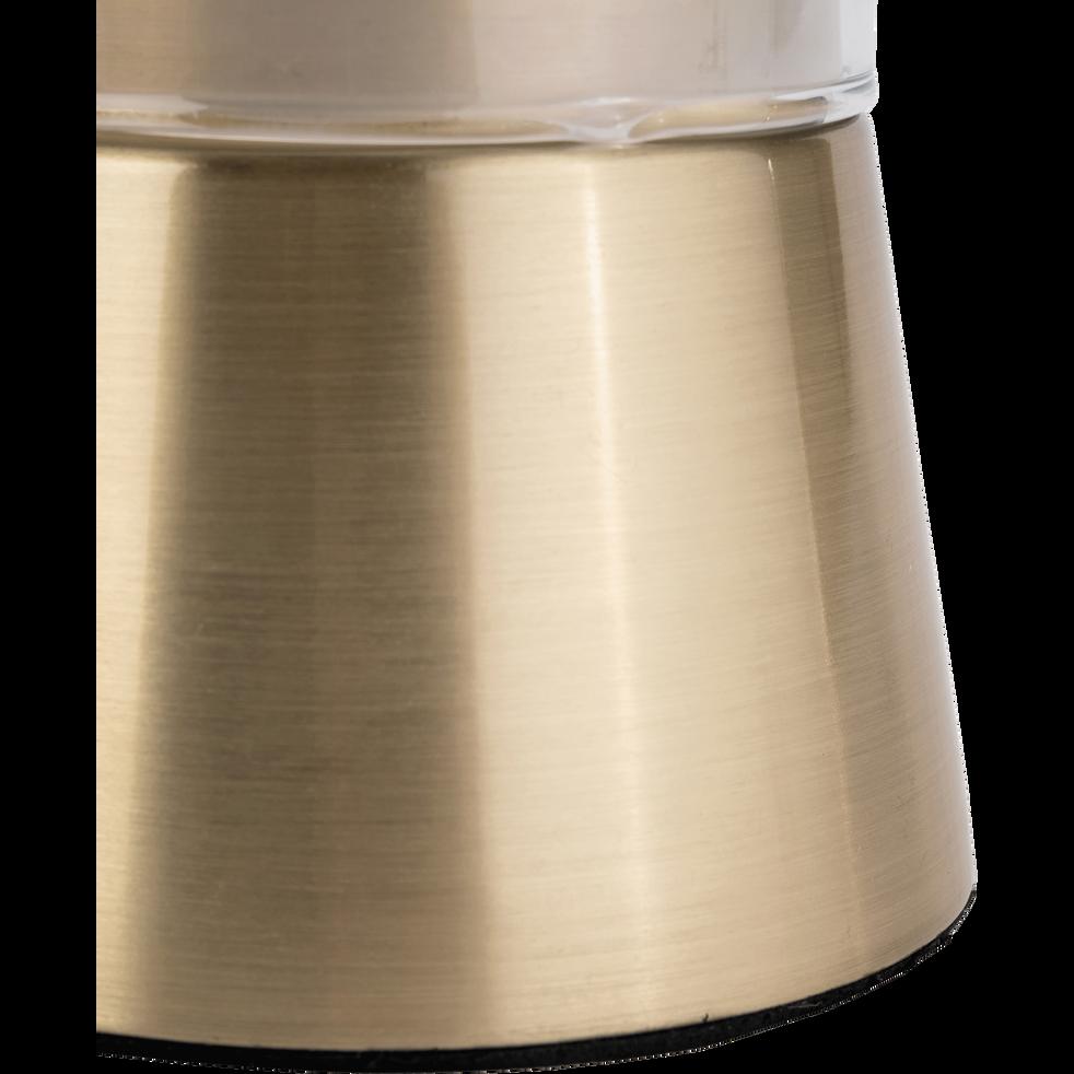 Lampe à poser tactile en laiton brossé H21,5cm-LEV