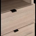 Colonne de rangement finition chêne-CASTEL