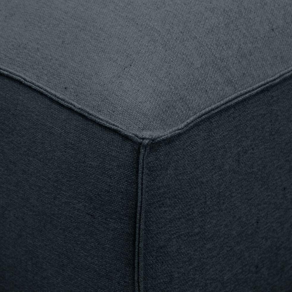 Petit pouf en tissu - L80xH40xl70cm bleu autan-REVERE