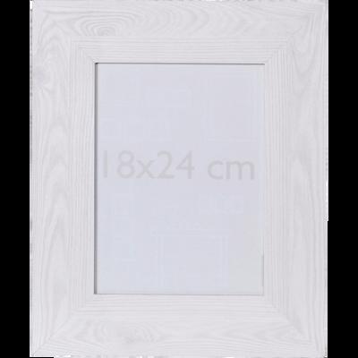 Cadre photo effet bois blanchi 18x24cm-VERA