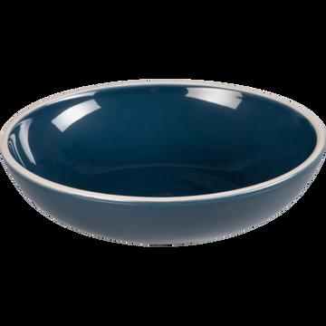 Assiette creuse en faïence bleu figuerolles D16cm-CAMELIA
