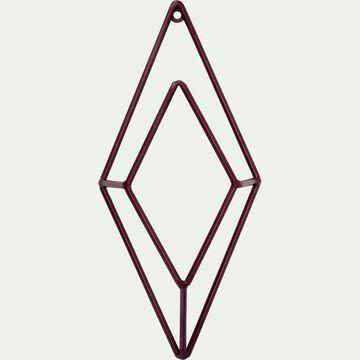 Patère losange en métal - rouge H24cm-PACHA