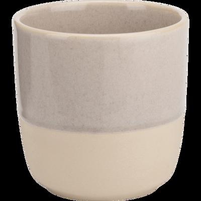 Mug en grès beige 25cl-SANTAL