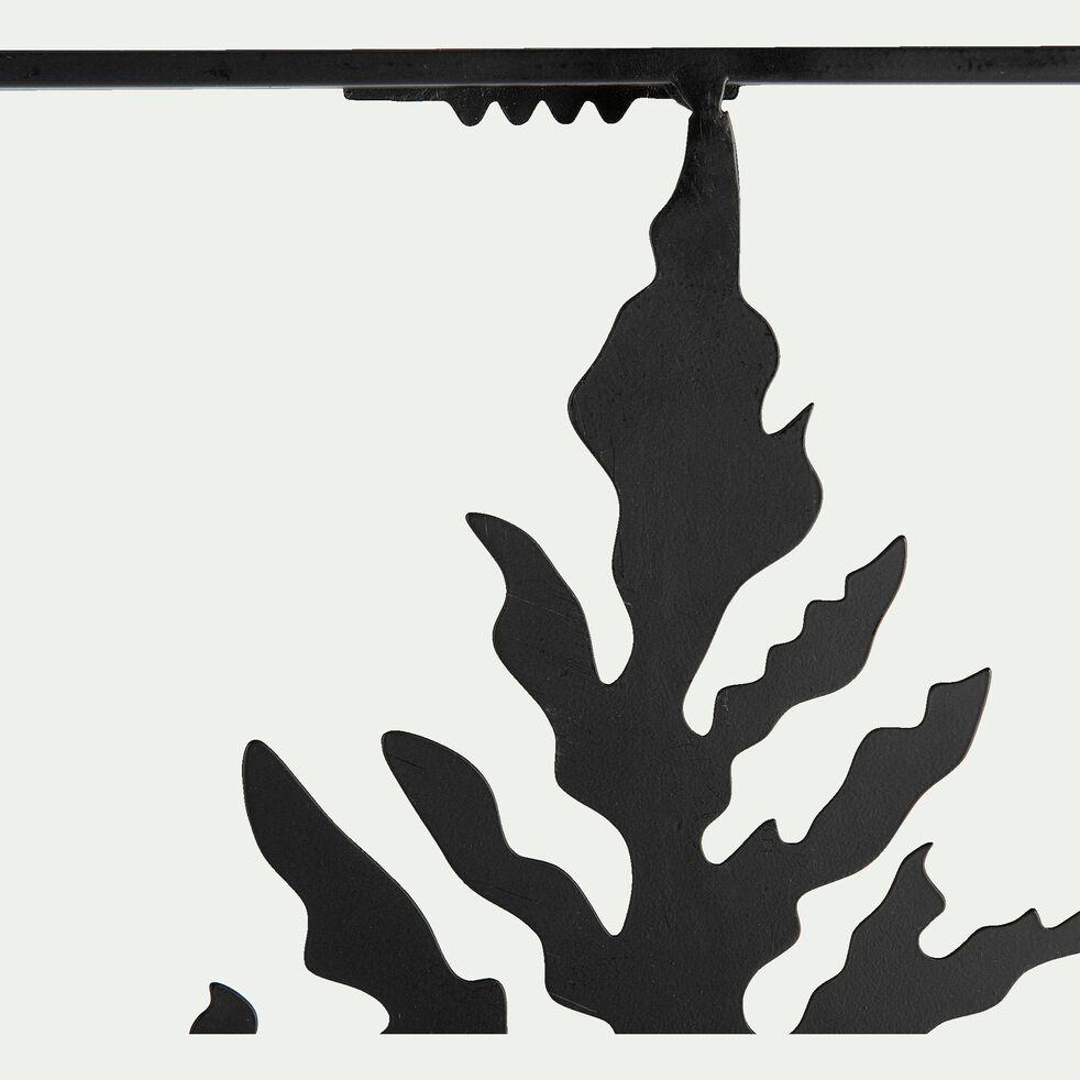 Décoration murale fougère en métal - noir 38x55,5cm-ARTO