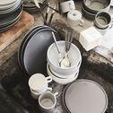 Tasse à thé en faïence gris borie 25cl-VADIM