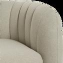 Canapé 2 places fixe en tissu gris borie-ALCEA