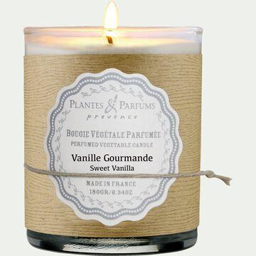 Bougie parfumée senteur vanille gourmande H9cm-MANON
